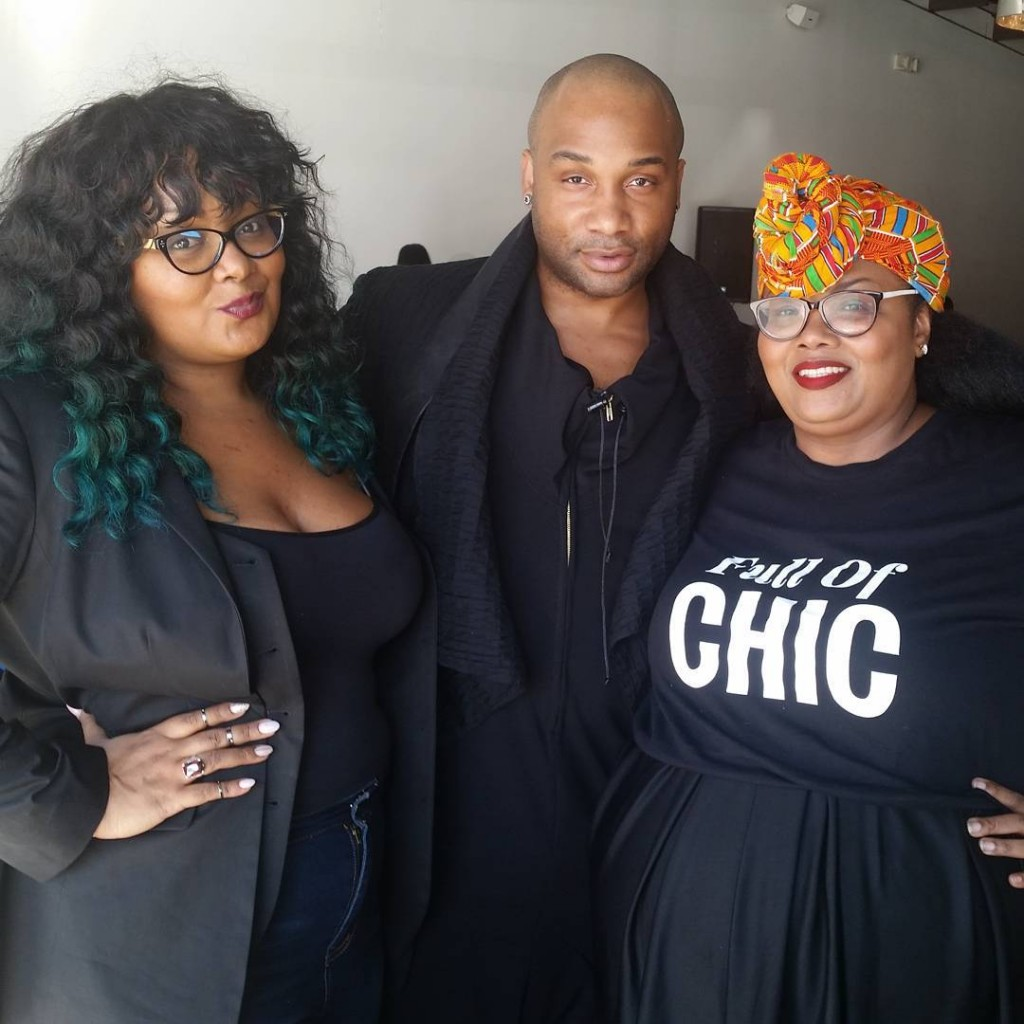 Maui Bigelow of PHAT Girl Fresh with the Curvy Fashionista and designer Tyrell Holmes