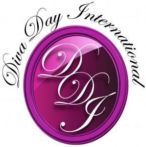 Large purple button with the letters DDI inside, a logo for company Diva Day International