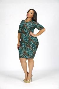 Curvy Model Shanda Ferguson wearing designs by Bella Rene'