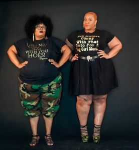 Maui of PHAT GIRL FRESH and model Jes Model Tasha rocking PHAT GIRL TEE
