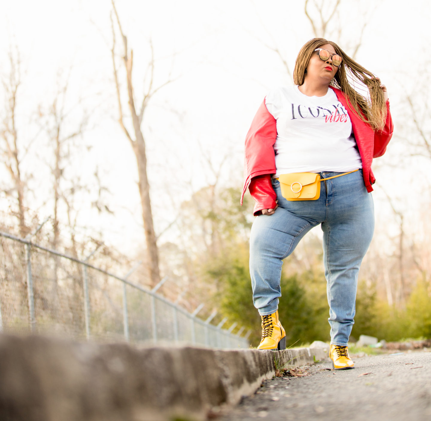 Maui B of PHAT Girl FRESh wearing Old Navy jeans